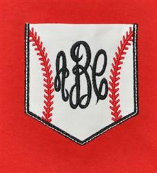 Baseball Pocket embroidery design
