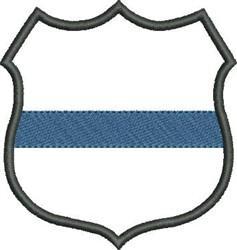 Blue Line Badge embroidery design