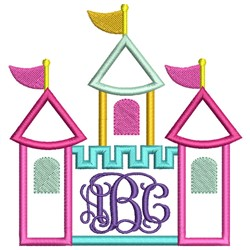 Castle Applique embroidery design