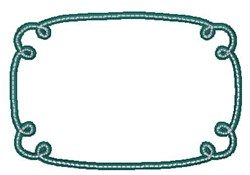 Doodle Frame embroidery design