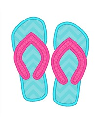 Flip Flop Applique embroidery design