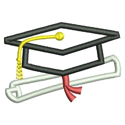 Cap & Diploma embroidery design