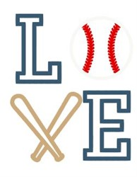 Love Baseball embroidery design