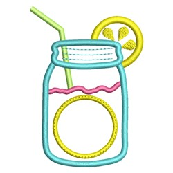 Mason Jar Lemonade embroidery design