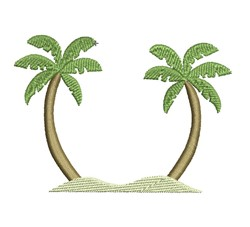 Palm Monogram Frame embroidery design