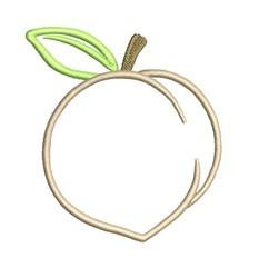 Applique Peach embroidery design