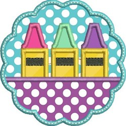 Scallop Crayon Applique embroidery design