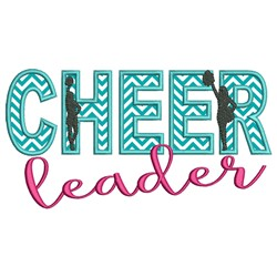 Cheerleader Applique embroidery design