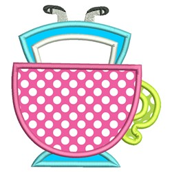 Alice In Cup Applique embroidery design