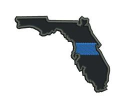 Blue Line Florida Applique embroidery design