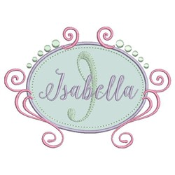 Isabella Frame Applique embroidery design
