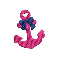 Mini Anchor Bow embroidery design