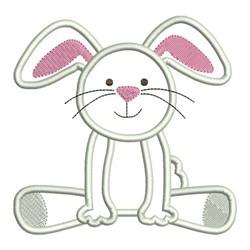 Applique Bunny embroidery design
