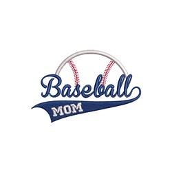 Baseball Mom embroidery design