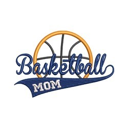 Basketball Mom embroidery design