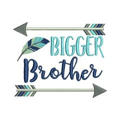 Bigger Brother Arrows embroidery design