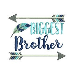 Biggest Brother Arrows embroidery design