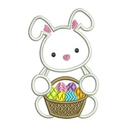 Bunny Basket Applique embroidery design