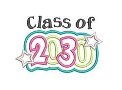 Class of 2030 embroidery design