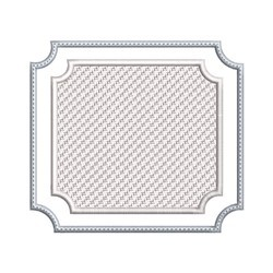 Double Square Embossed Frame embroidery design