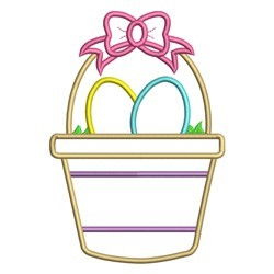 Easter Basket Applique embroidery design