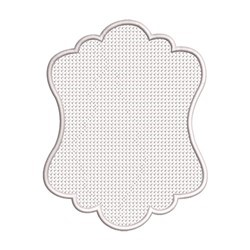 Embossed Frame embroidery design