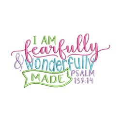 Fearfully and Wonderfully embroidery design