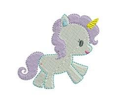 Filled Unicorn embroidery design