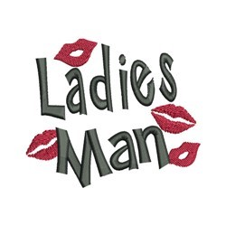 Ladies Man embroidery design