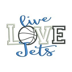 Live Love Jets embroidery design