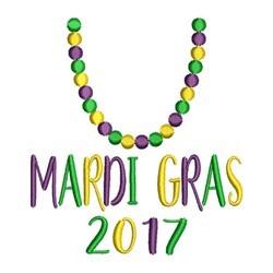 Mardi Gras 2017 embroidery design
