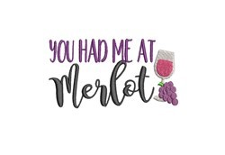 Merlot embroidery design
