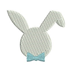 Mini Bunny Head embroidery design