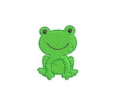 Mini Frog embroidery design
