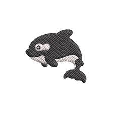 Mini Orca embroidery design