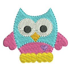 Mini Owl embroidery design