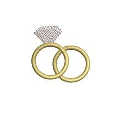 Mini Wedding Rings embroidery design