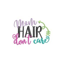Mom Hair embroidery design