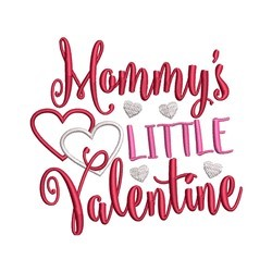 Mommys Valentine embroidery design