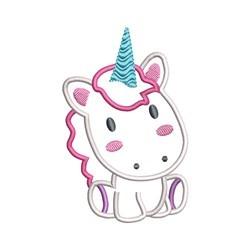 Sitting Unicorn embroidery design