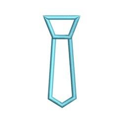 Tie Applique embroidery design