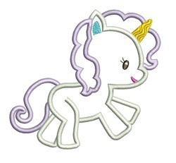 Unicorn Applique embroidery design