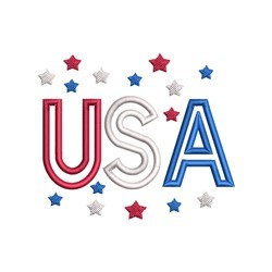 USA Stars Applique embroidery design