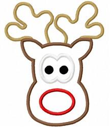 Applique Reindeer embroidery design