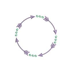 Arrow Circle embroidery design