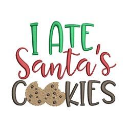 Ate Santas Cookies embroidery design