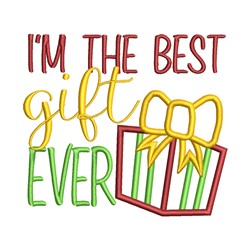 Best Gift Ever embroidery design