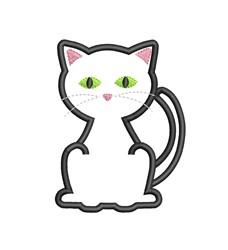 Cat Applique embroidery design