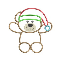 Chirstmas Bear Applique embroidery design