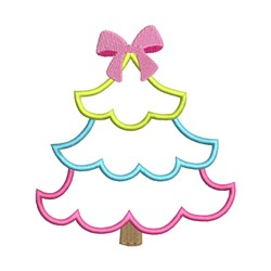 Chirstmas Tree embroidery design